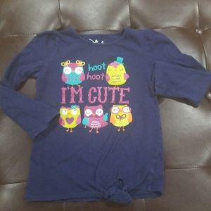 3/$10 Jumping Bean owl tie shirt